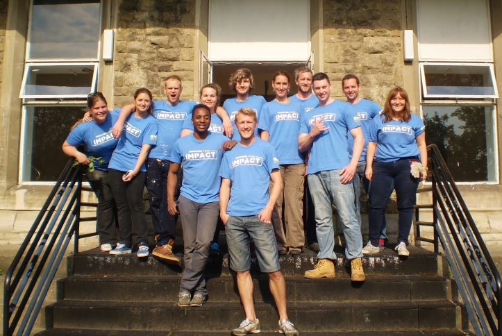 The team from Discovery Communications at Telegraph Hill Centre, 7th June 2013