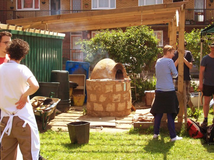 Firing up the Cob Oven at Telegraph Hill Centre