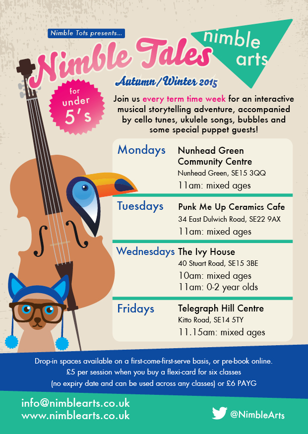 Nimble Arts for children aged 0 to 5 at Telegraph Hill Centre