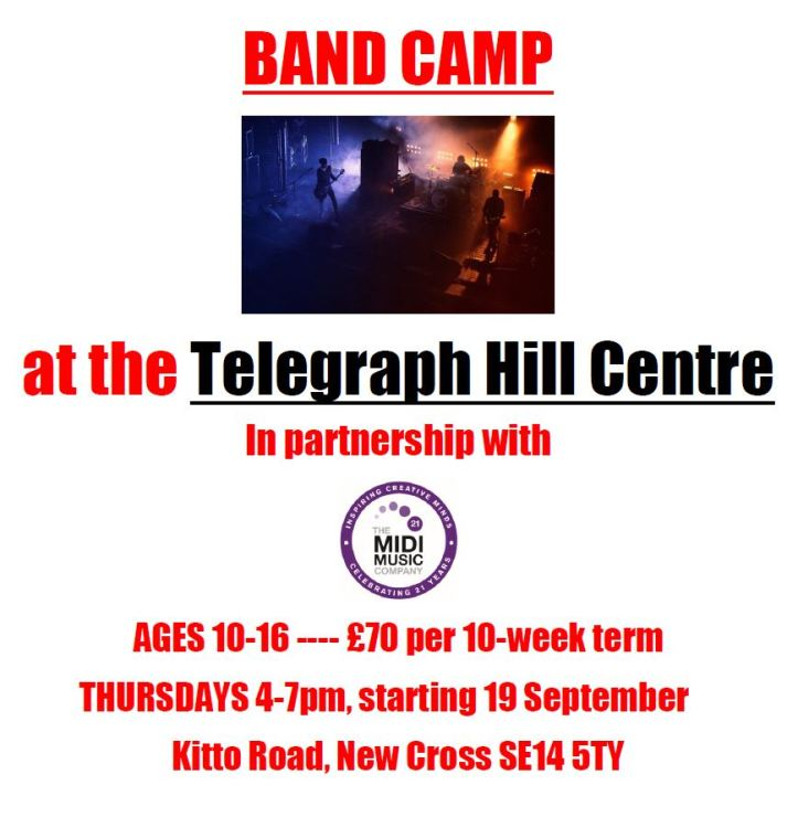 Band Camp at Telegraph Hill Centre